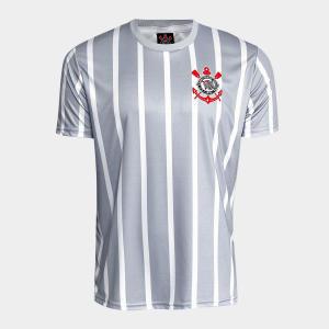 Camisa Corinthians 2002 n° 7 Masculina - Branco e Cinza