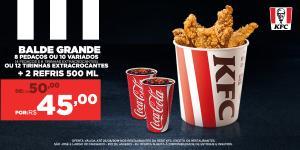 Balde grande + 2 refris 500ml | R$45