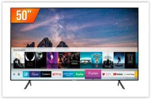 Smart TV LED 50'' Ultra HD 4K Samsung RU7100 3 HDMI 2 USB Wi-Fi iTunes por R$ 1999