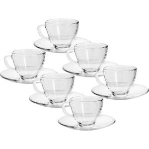 Jogo de Xícaras de Café 6 Peças Transparente - Bon Gourmet - R$25