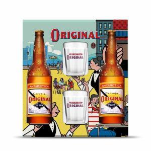 Kit Original - 2 Garrafas 600ml + 2 copos 190ml   R$20