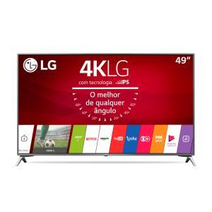 "Smart TV LED LG 49"", 4K, Wi-fi, HDMI, USB e Bluetooth - 49UJ6525 | R$1899"