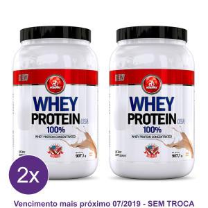 Kit 2x Whey Protein Midway 907g Por R$ 76,49