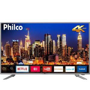"""[AME] Smart TV LED 40"""" Philco PTV40G50sNS Ultra HD 4k 3 HDMI 2 USB Wi-Fi Som Dolby 60Hz Prata - R$1429 (ou R$1072 com Ame)"""