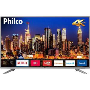 "[AME] Smart TV LED 40"" Philco PTV40G50sNS Ultra HD 4k com Conversor Digital 3 HDMI 2 USB Wi-Fi Som Dolby 60Hz Prata"