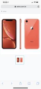 """iPhone XR Apple com 128GB, Tela Retina LCD de 6,1"""", iOS 12, Câmera Traseira 12MP, Resistente à Água e Reconhecimento Facial – Coral"""