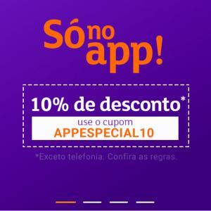 [APP] 10% de desconto no App Shoptime - Exceto Telefonia