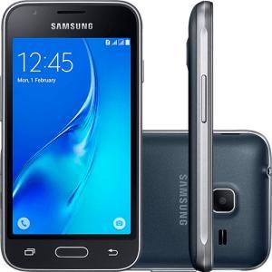 "Smartphone Samsung Galaxy J1 Mini Android 5.1 Tela 4"" 8GB 3G Wi-Fi Câmera 5MP - Preto por R$ 317"