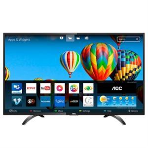 """Smart TV LED 43"""" AOC LE43S5970S Full HD  Wi-Fi, 2 USB, 3 HDMI e 60Hz - R$1.299"""