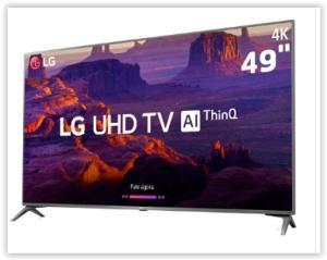 """Smart TV LG 49"""" LED Ultra HD 4K 49UK6310 por R$ 1799"""