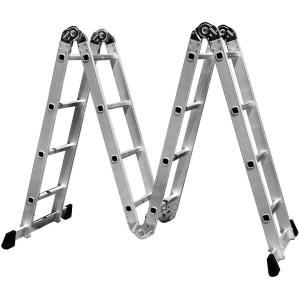 Escada Multifuncional 4x4 em Aço e Alumínio 16 Degraus