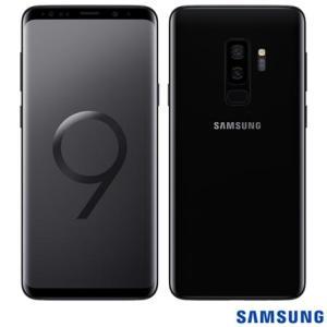 """Samsung Galaxy S9+ Preto, com Tela de 6,2"""", 4G, 128 GB e Câmera Dupla 12MP+12MP - SGG965 - SGG965PTO_PRD"""