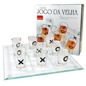 Jogo Da Velha 10 Peças Copos Shot Drink