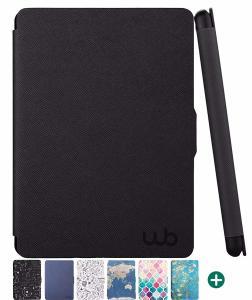 Capa Novo Kindle Paperwhite à prova d'água WB® Ultra Leve Auto Hibernação Fecho Magnético Preta por R$ 70