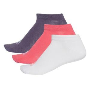 Meia Adidas Per No Sh T - 3 Pares - Pink e Branco
