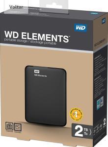 Frete GRÁTIS   HD EXTERNO 2TB BLACK SLIM ELEMENTS EE WESTERN DIGITAL (USANDO MÉLIUZ e VAI DE VISA: R$ 263)