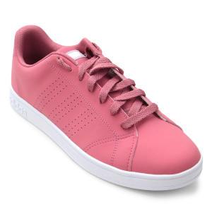 Tênis Adidas Vs Advantage Cl W Feminino - Rosa e Branco por R$ 117