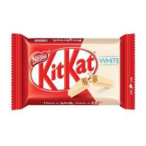Chocolate Kitkat 4 Fingers White 41,5g   R$0,58