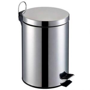 Lixeira de Aço Inox Redonda 5 Litros - Home&Garden | R$28