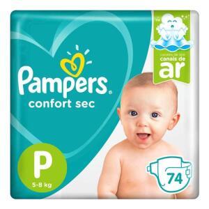 Fralda Pampers P Confort Sec Super 74 Unidades