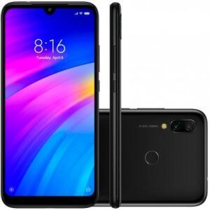 Smartphone Xiaomi Redmi 7 32GB 3GB RAM Global Desbloqueado Preto Eclipse R$779