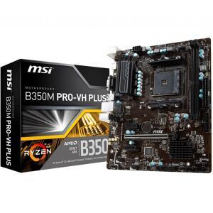 Placa-Mãe MSI B350M Pro-VH Plus AMD - R$340