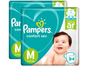 Fraldas Pampers Confort Sec Tam. M - 188 Unidades - R$140