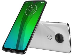 "Smartphone Motorola Moto G7 64GB Polar 4G Tela 6,24"" Câmera 12MP Selfie 8MP Dual Chip Android 9.0 - R$1087"