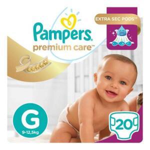 Fralda Pampers Premium Care G Com 20 Unidades - R$16