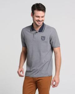 Camisa Polo Piquet Mescla Tamanho P por R$ 25
