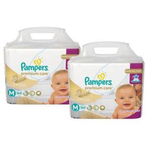 Kit Fralda Pampers Premium Care Tamanho M 168 Unidades