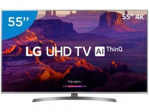 """Smart TV LED 55"""" Ultra HD 4K LG 55UK6540 IPS HDR 10 Pro 4 HDMI 2 USB - R$ 2583"""