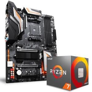 Processador AMD Ryzen 7 2700X + Placa-Mãe Gigabyte ATX X470 Aorus Ultra Gaming