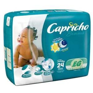 Fraldas Capricho Bummies Pacote Jumbo P, M,G, XG, XXG por R$ 10
