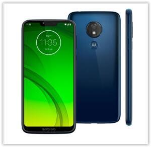 "Smartphone Motorola Moto G7 Power Azul Navy XT1955 64GB, Tela de 6,2"", 4GB de RAM por R$ 1079"