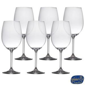 Conjunto de Taças para Vinho em Crystalite de 580 ml com 06 Peças - Bohemia R$69
