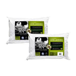 Kit de Travesseiro Fibra de Poliéster Siliconizada 50X70cm Fibrasca 4482 Branco 2 Peças por R$ 34