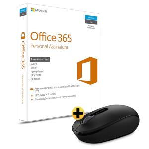Office 365 Personal Assinatura Anual + Mouse sem Fio Microsoft