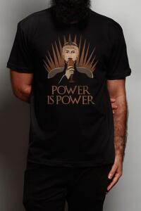 Camiseta Cersei - Power is Power - preta | R$37