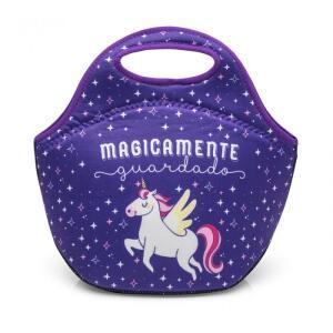 Bolsa térmica / Marmita Neoprene Unicórnio  - Ludi - R$35