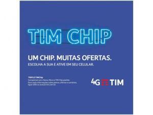 Chip TIM 4G - Pré-Pago/Controle por R$ 3
