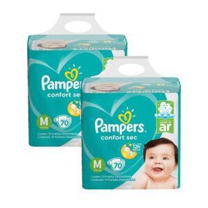 [AME] Kit Fralda Pampers Confort Sec Super Tamanho M 140 unidades