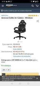 Cadeira Gamer Aerocool aAC60C Air