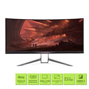 """Monitor Gamer Acer Predator X34 Curvo 34"""" QHD 100Hz 4ms G-, Ultrawide Overclocking, HDMI Display Port R$3799"""