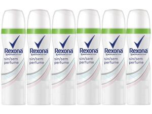 Desodorante Aerosol Antitranspirante Unissex - Rexona Motion Sense Sem Perfume 85ml 6 Unidades | R$28