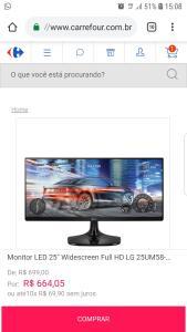 "Monitor LED 25"" Widescreen Full HD LG 25UM58-P.AWZ"