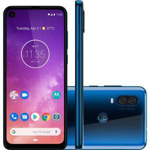 "Smartphone Motorola One Vision 6.3"", 128GB, Octa-Core, Câmera 48MP, Azul Safira - XT1970-1AZ"