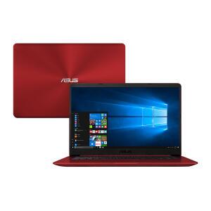 """Notebook Asus Intel Core i5-8250U 8GB 1TB Tela 15.6"""" Windows 10 VivoBook X510UA-BR1160T Vermelho por R$ 2299"""