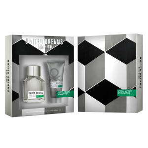 Kit Benetton United Dreams Aim High: Perfume + Pós-Barba R$90
