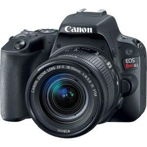 Câmera Canon DSLR EOS Rebel SL2 com lente 18-55mm  | R$2.129